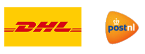 snelle levering via DHL en TNT